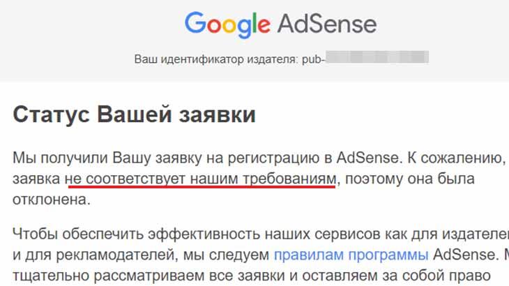 Отказ от Google AdSense ценность инвентаря
