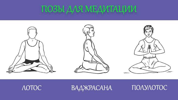 Позы медитации